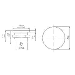 plan bouton piezo électrique en inox