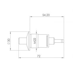 plan bouton pneumatique en inox