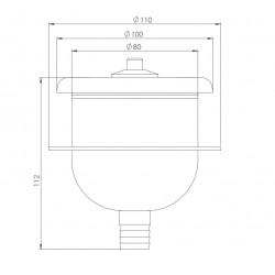 plan boîtier immergé avec bouton pneumatique en inox