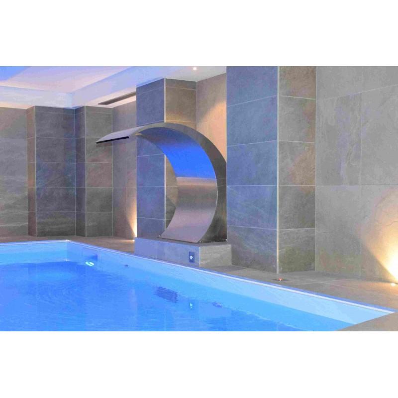 cascade de piscine en inox 500 moonbase rectangulaire