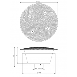 plan bonde de fond inox béton/carrelage/inox