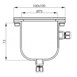 plan boîte de dérivation en inox ronde