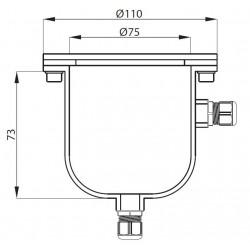 plan boîte de dérivation en inox carré